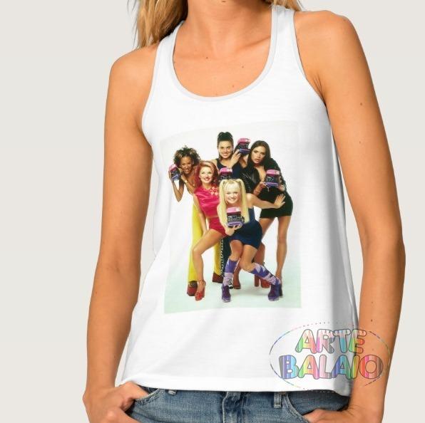 7054c420c5fd9a Camiseta Regata Nadador Anos 90 Spice Girls Anos 90 Retro