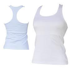 Camiseta Regata Nadador Branca 100% Poliester - R  21 c9a193dfe7a