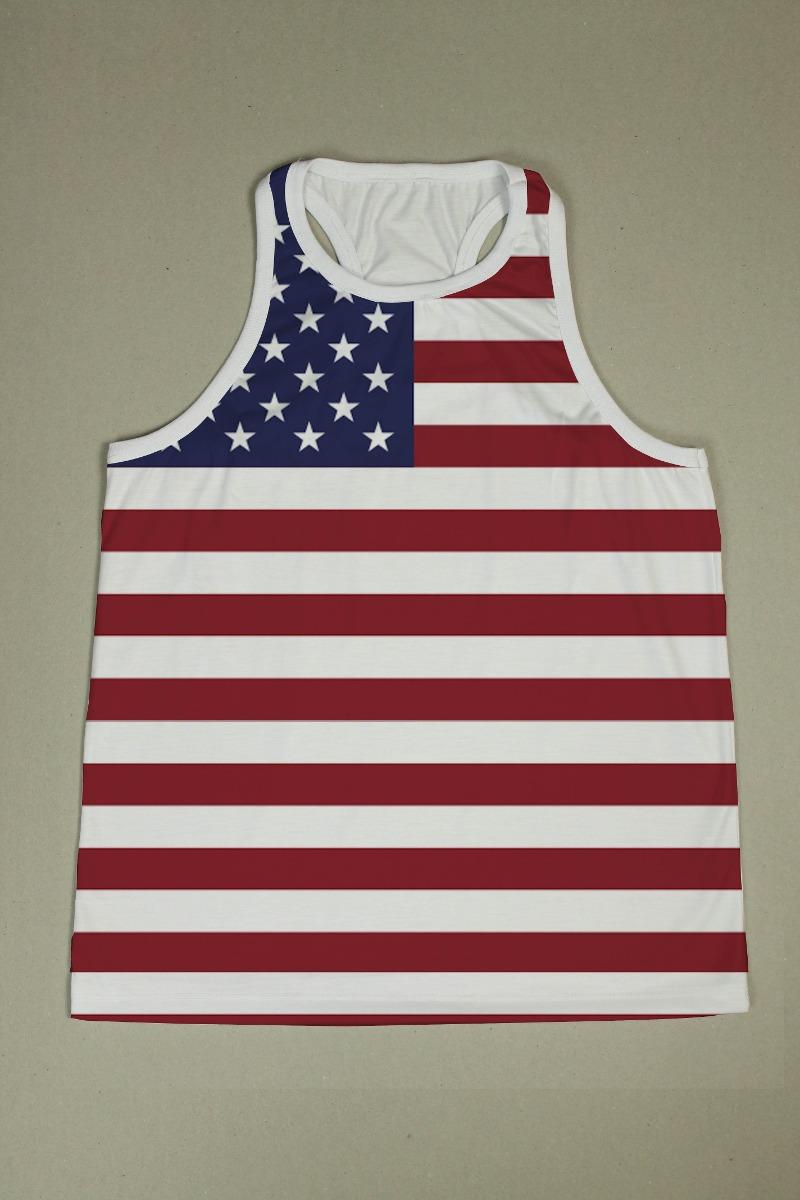 230d4ffd9a7ad Camiseta Regata Nadador Masc. Usa 9 - Estados Unidos - Eua - R  49 ...