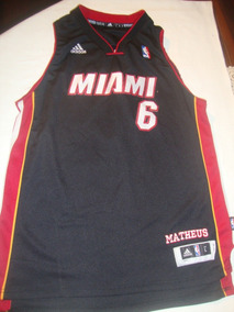 ae61250c47 Camiseta Regata Adidas Nba Miami Heat no Mercado Livre Brasil