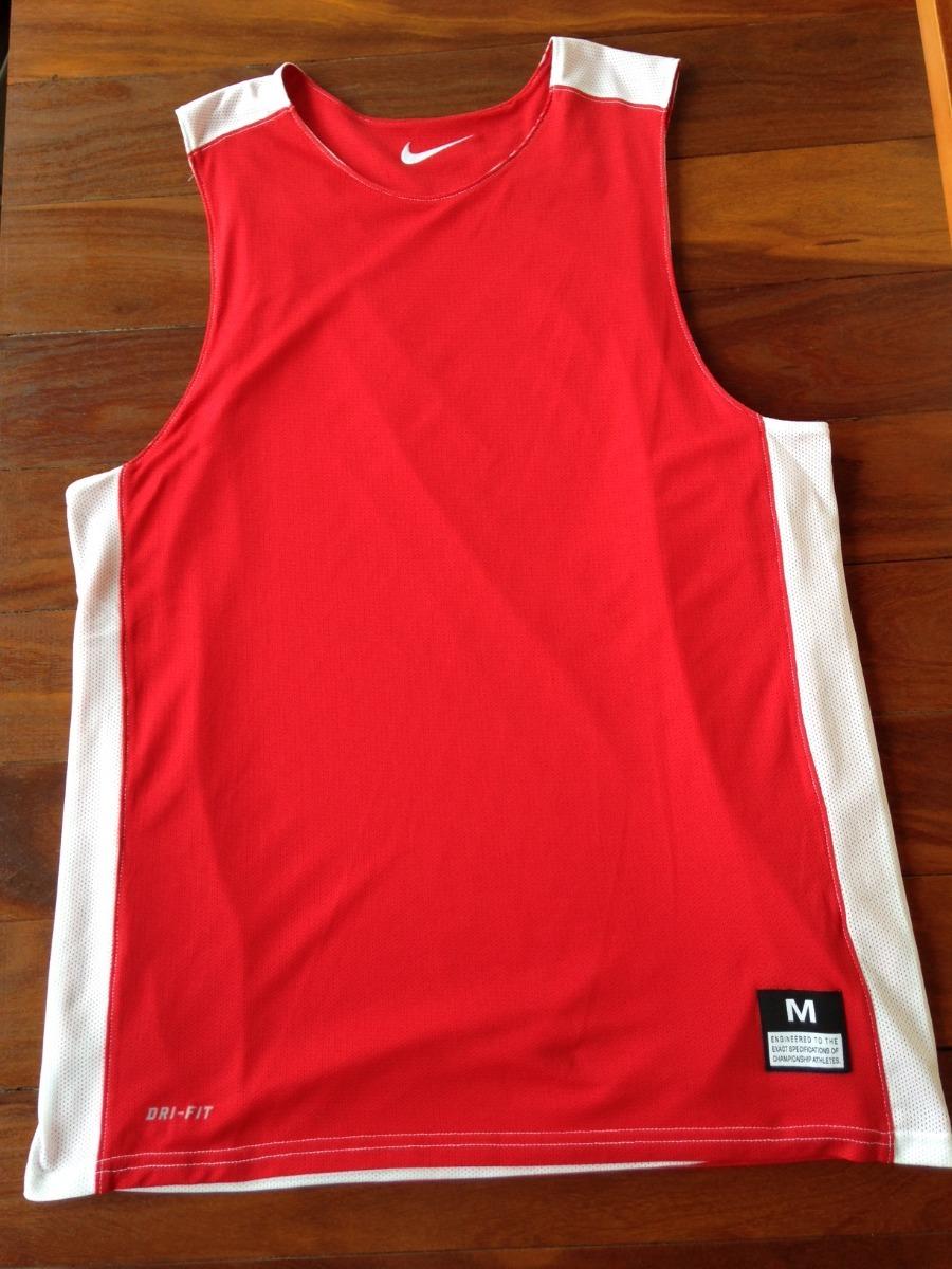 Camiseta Regata Nike Basquete Dupla Face Vermelho branco - M - R  99 ... c88c6df8c13
