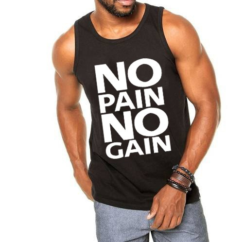 029bbf8be5750 Camiseta Regata No Pain No Gain Musculação