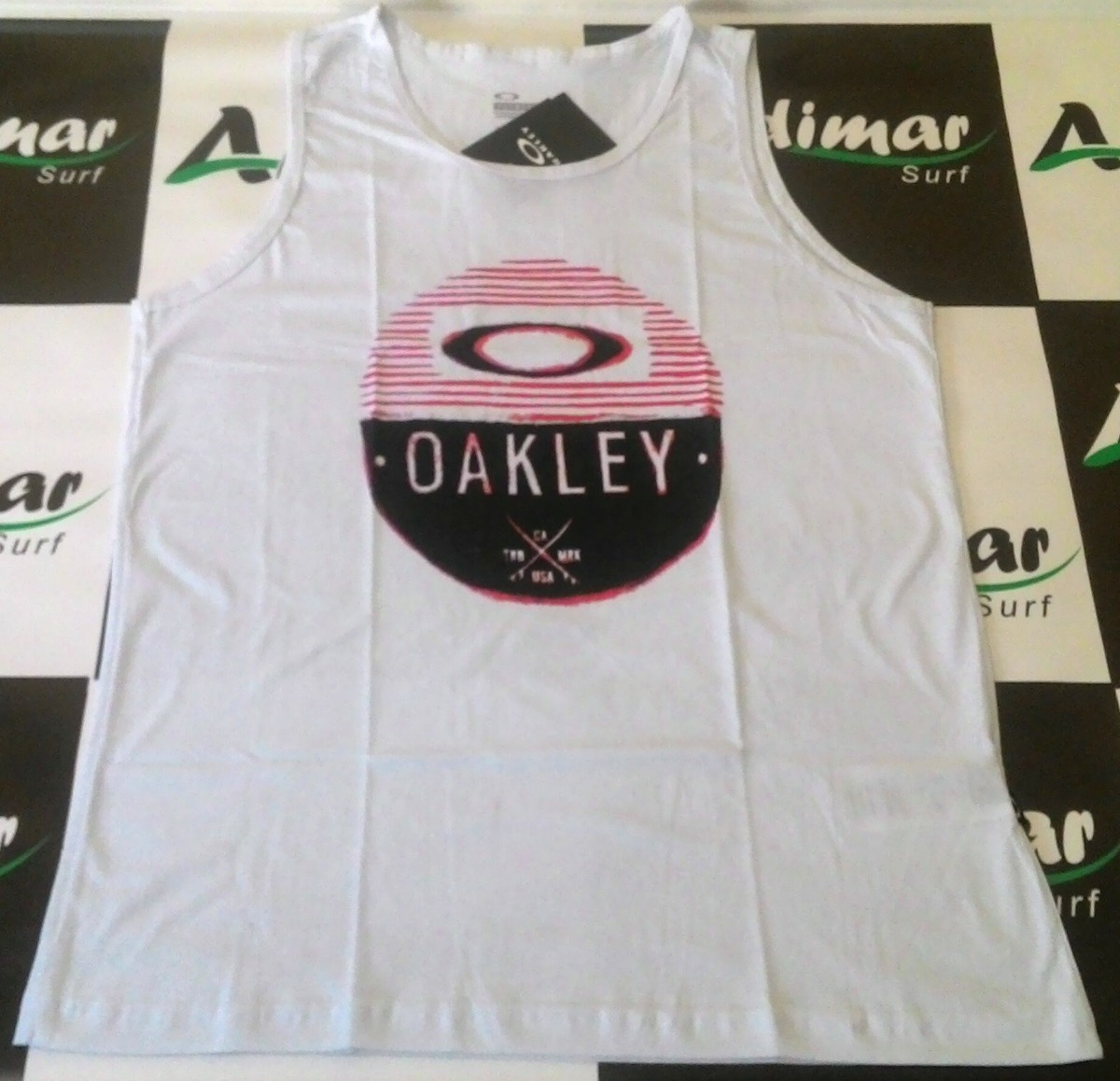 f67b6eb8c2787 camiseta regata oakley original masculina branca estilosa. Carregando zoom.