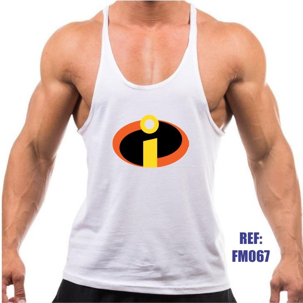 camiseta regata os incríveis heróis academia malhação cavada. Carregando  zoom. dca66b06426