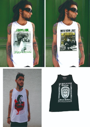 camiseta regata outlaw street soldier estilo thug nine
