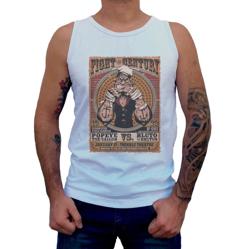 camiseta regata popeye