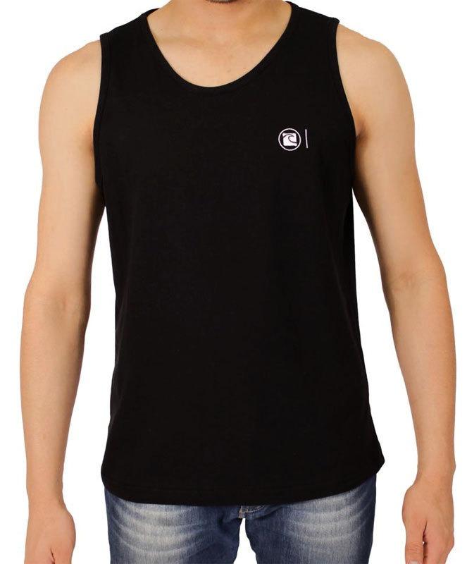 28fcafc4d6 camiseta regata preta lisa surf slim fit para academia. Carregando zoom.