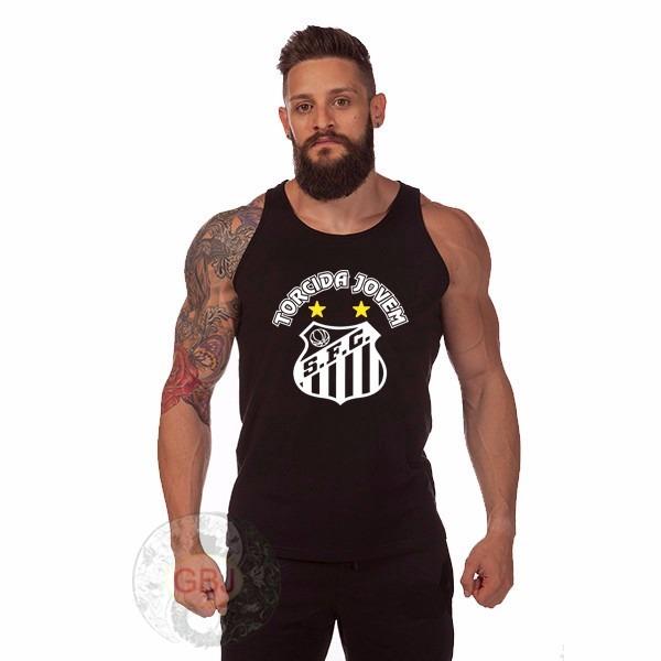 b753e37e55 Camiseta Regata Santos F.c Torcida Camisa Jovem A Melho D M - R  21 ...