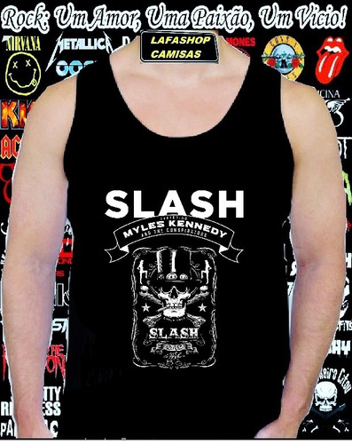 camiseta regata slash milles kennedy camisa guns roses verao