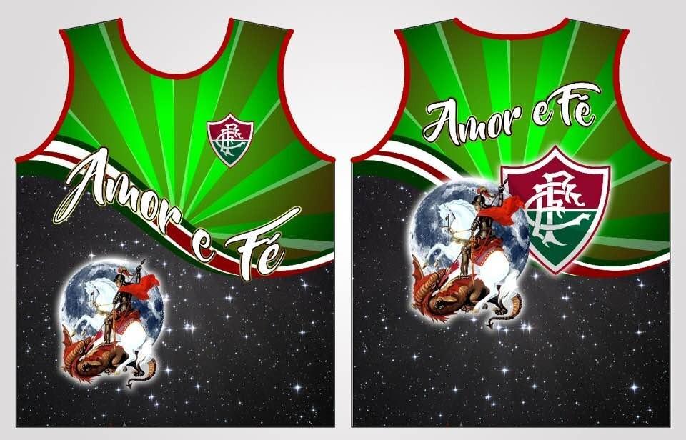 Camiseta Regata São Jorge Guerreiro Fluminense Amor E Fé - R  39 fcd590376b87c