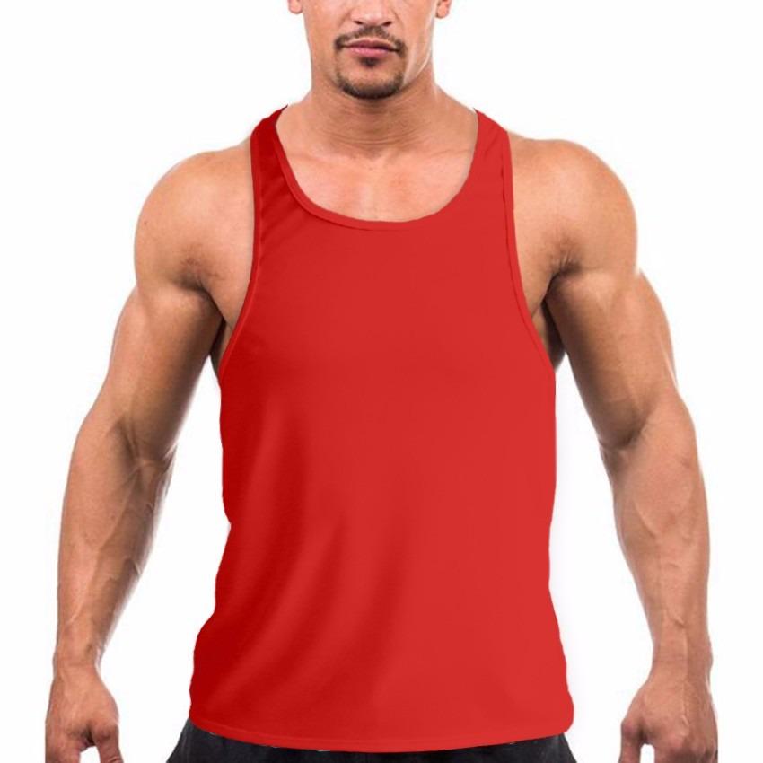 58281c1f33d72 camiseta regata super cavada lisa treino masculina vermelha. Carregando  zoom.