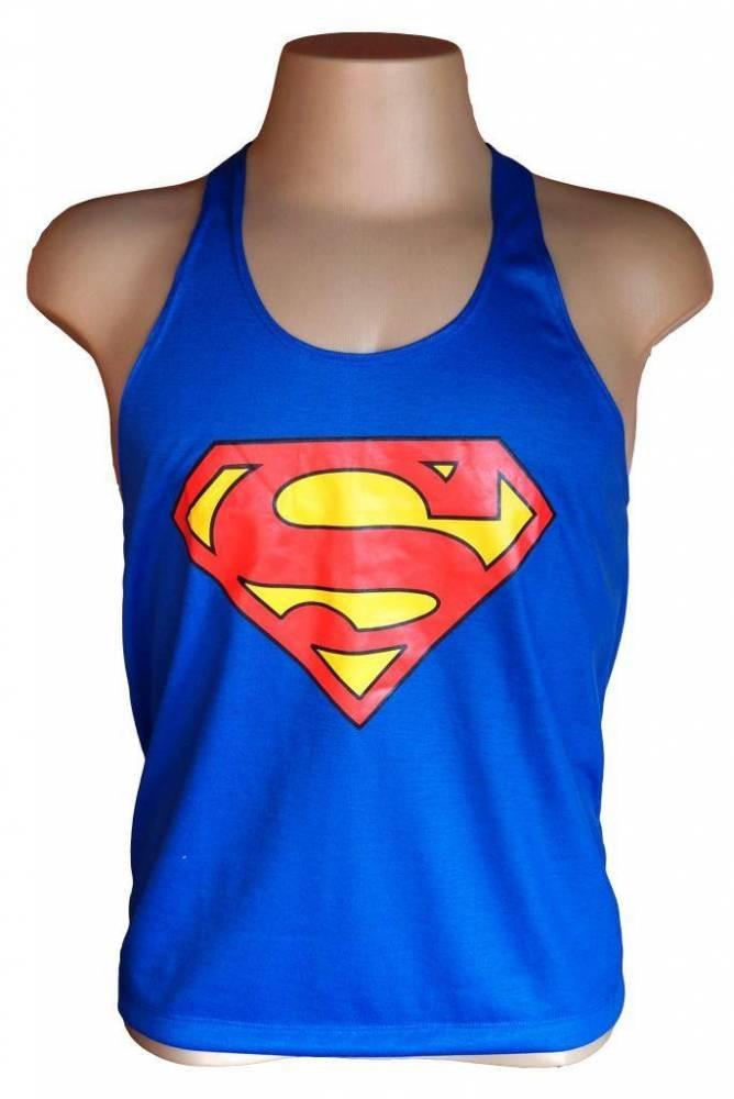 camiseta regata superman feminina adulto. Carregando zoom. ab3c6c3a302