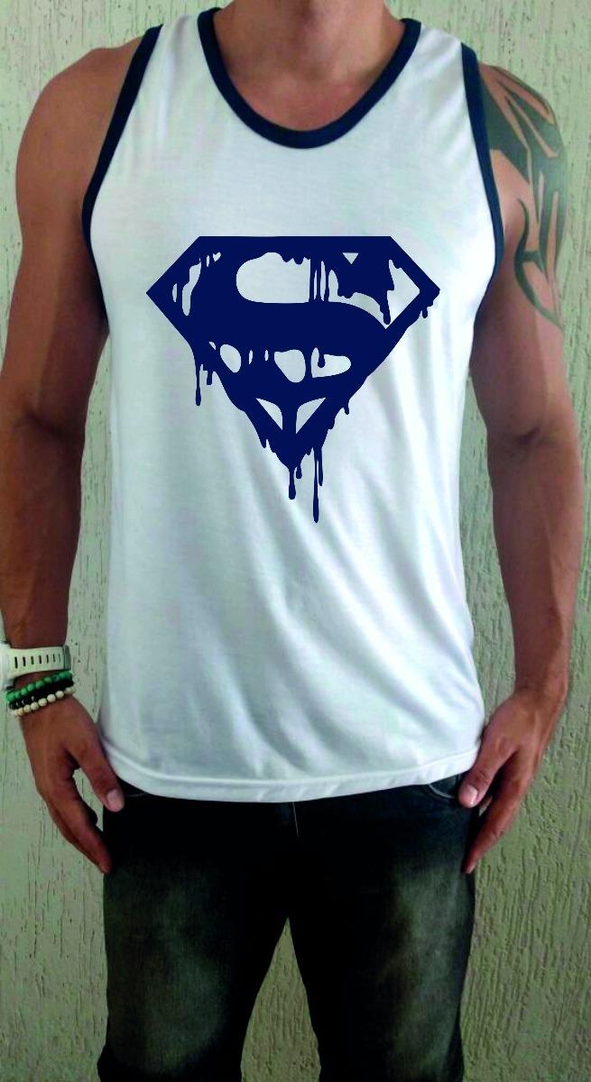 cdaf07d44 Carregando zoom... camiseta regata superman ...