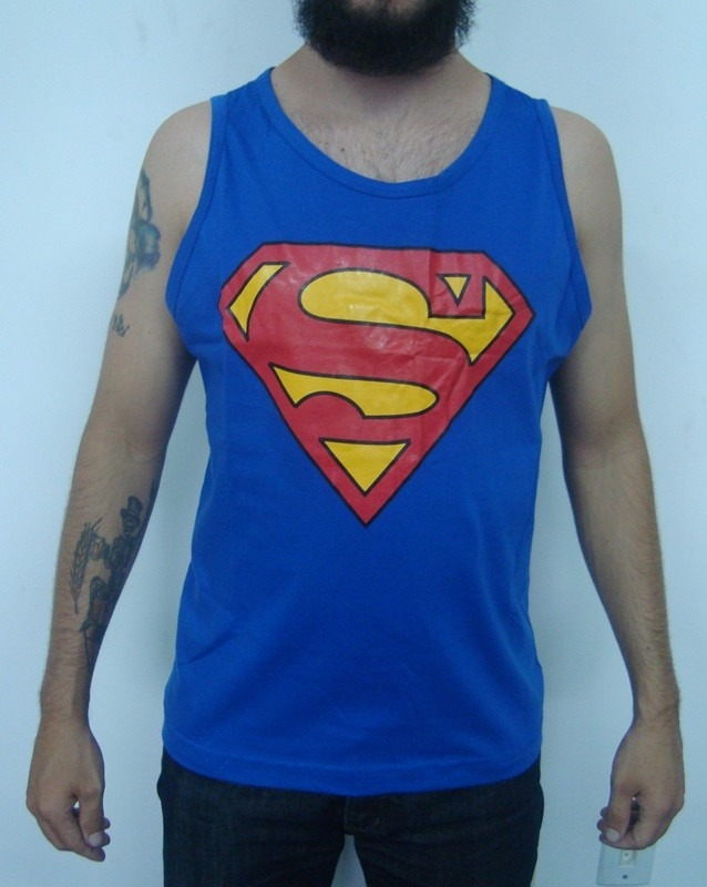 cdca71804 Camiseta Regata - Superman ( Super Homem ) - R  44
