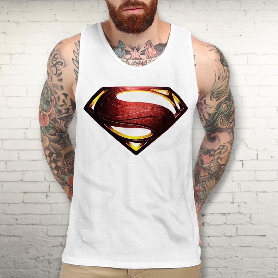 2828f3ce5 Camiseta Regata Superman Super Homem Animes Filmes Desenhos - R  30 ...