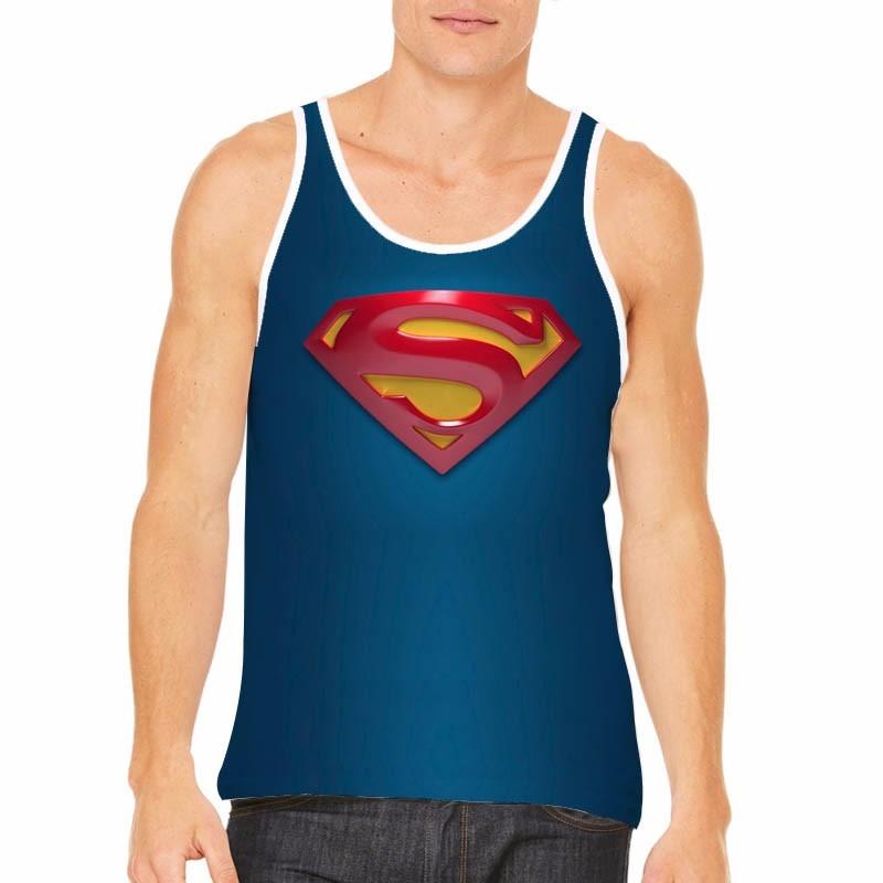 5a8450178 Camiseta Regata Superman Super Homen Simbolo 3 D - R  54