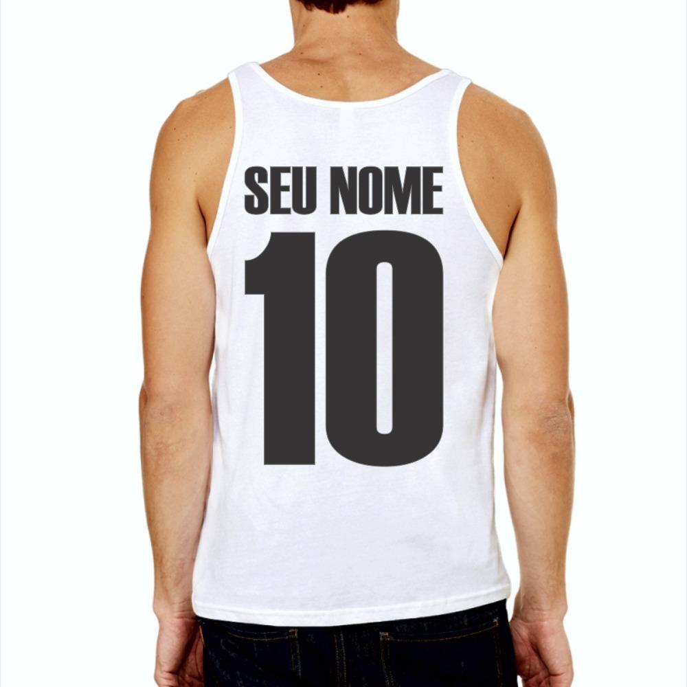 c6a7238aaad6b Camiseta Regata Vasco Da Gama Futebol Personalizada Com Nome - R  27 ...