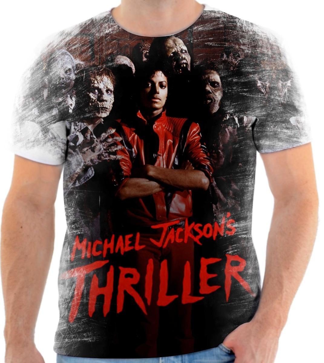 camiseta rei do pop michael jackson thriller queima estoque. Carregando  zoom. 4c56c751c83ef