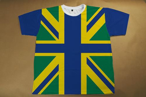 camiseta reino unido brasil grã-bretanha inglaterra