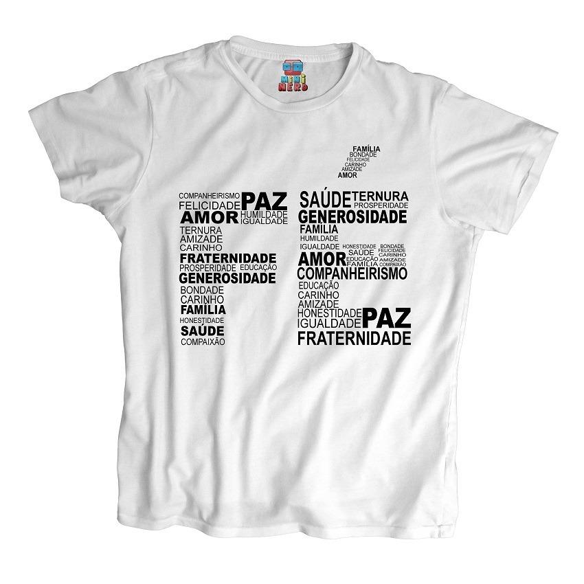 bcac1813b camiseta religiosa fé paz amor carinho fraternidade. Carregando zoom.