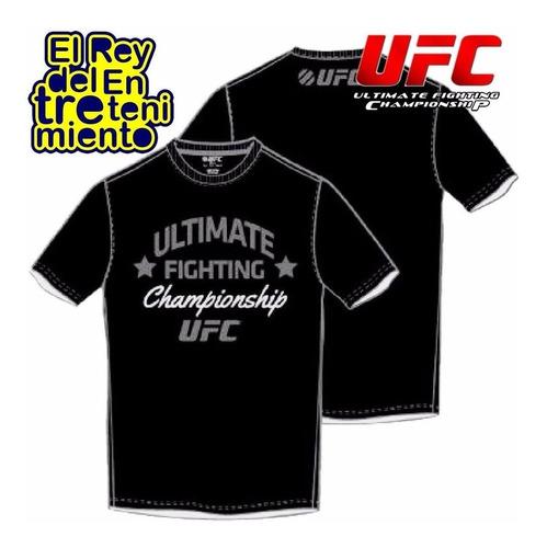 camiseta remera estampada marca ufc rep. oficial - el rey