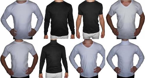 camiseta-remera manga corta 100% algodón interlock invierno