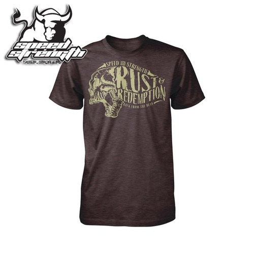camiseta remera speed & strength rust&redemption hombre sm