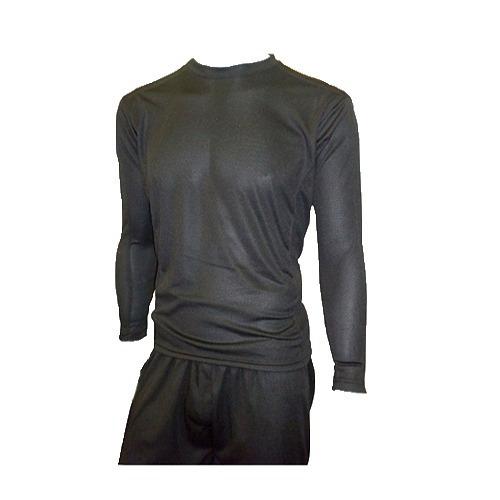camiseta remera termica negra poliester piren manga larga