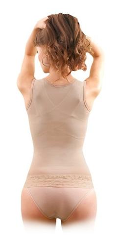 camiseta remodeladora para mujer  kisha unica de power net