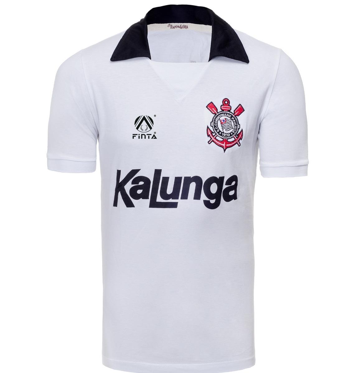 719c998f47777 Camiseta Retrô - Corinthians 1990 Kalunga - Branca - R  69