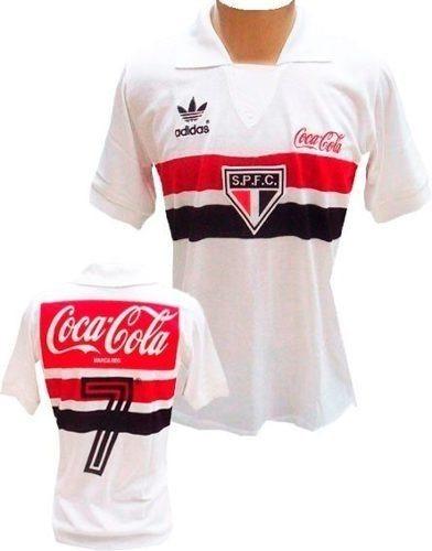a61503e7d8 Camiseta Retrô São Paulo 1989 Coca Cola Camisa Branca Spfc - R  94 ...