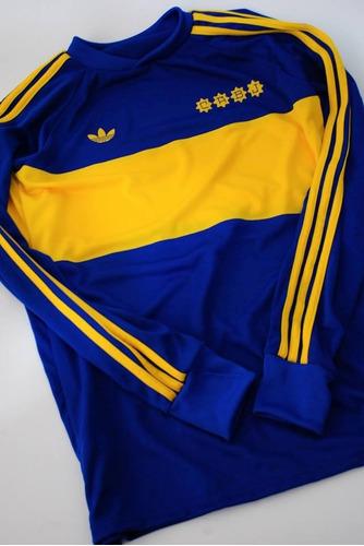camiseta retro 1981 manga larga boca juniors