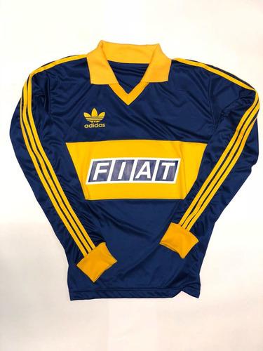 camiseta retro boca juniors retro fiat 1990