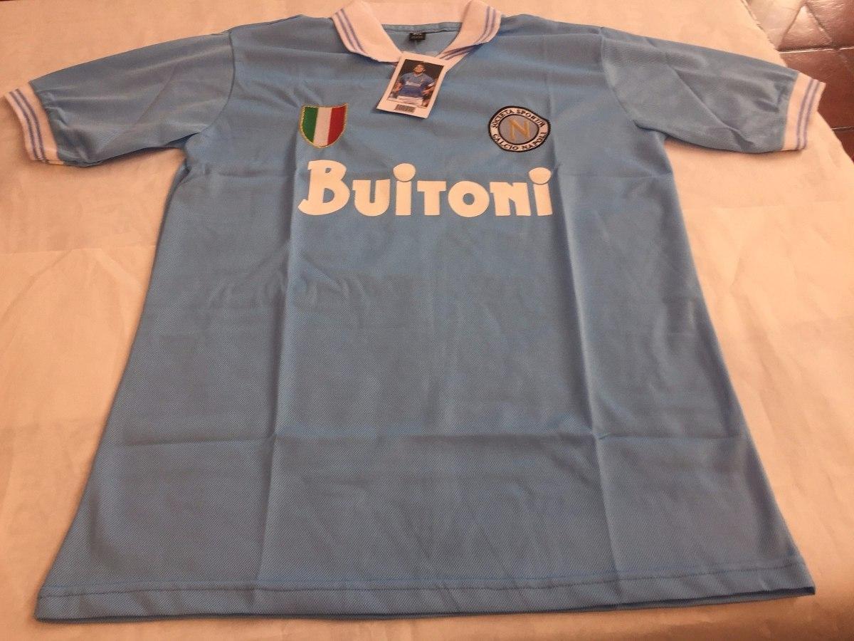 camiseta retro del napoli con el 10 de maradona. Cargando zoom. 73d8b81c7c291