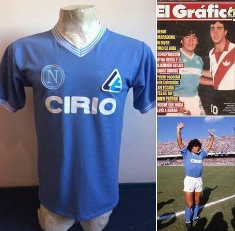 af060bec138ca Camiseta Retro Napoli Maradona Mars Buitoni Cirio -   1.190