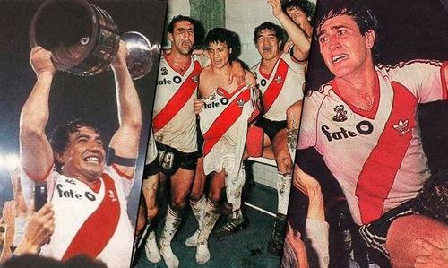 camiseta retro river plate 1986 fate leon campeón japon 86