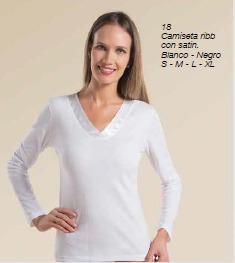 camiseta ribb con satín / mallbits