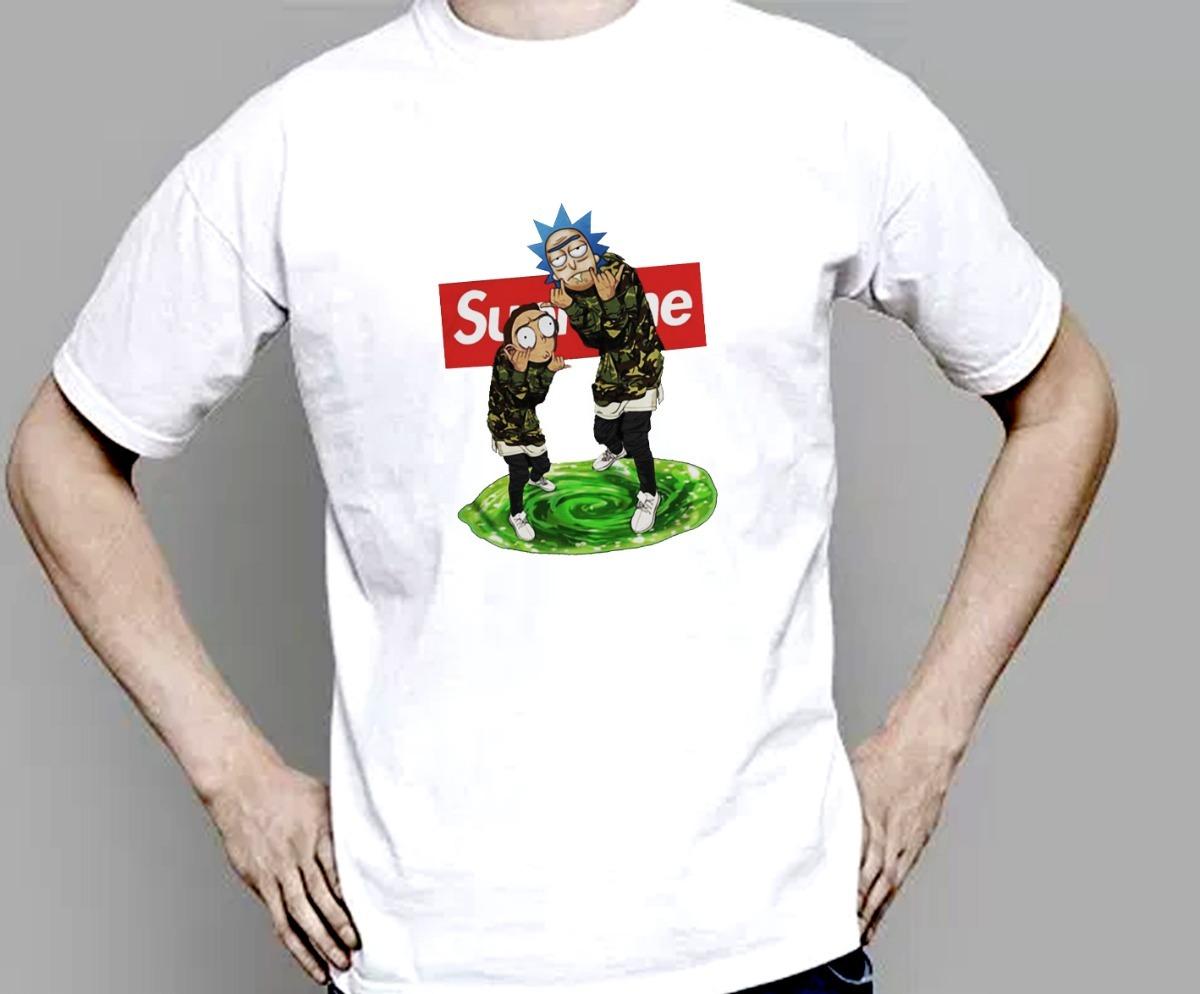 42970de8 Camiseta Rick And Morty Supreme X Bape - R$ 38,90 em Mercado Livre