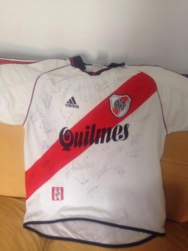 camiseta river 2000 firmada