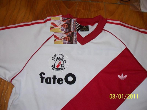 camiseta river campeon 1985 / 86 retro
