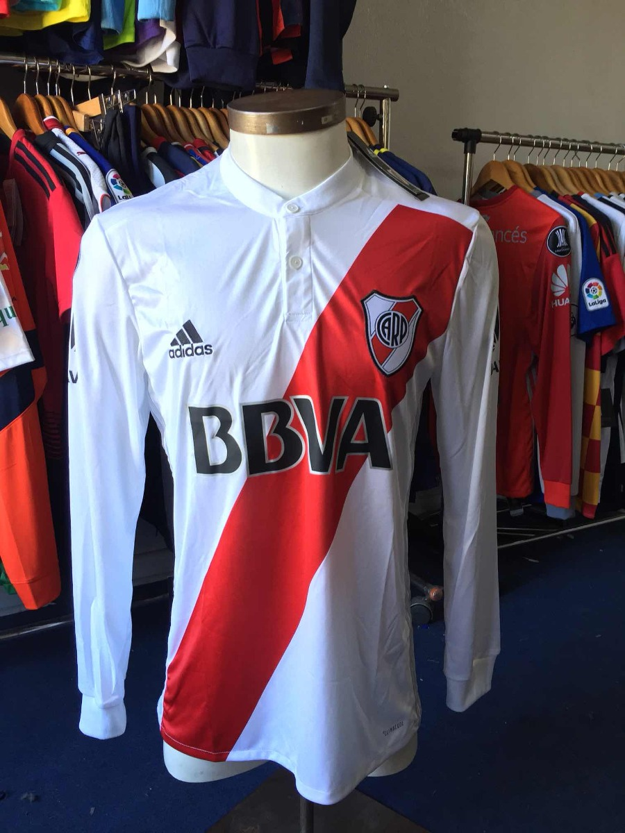 niño grandes ofertas 2017 fábrica Camiseta River Plate 2018 Local adidas Libertadores Linea 1
