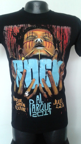 camiseta rock al parque 2017 conmemorativa rock metal anime