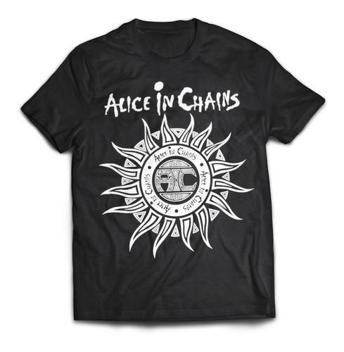 camiseta rock alice in chains rock activity