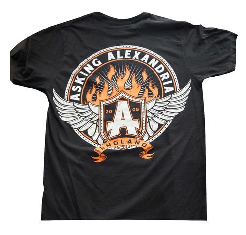 camiseta rock asking alexandria import rock activity talla m