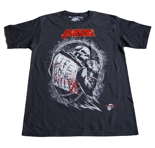 camiseta rock asking alexandria importada talla m
