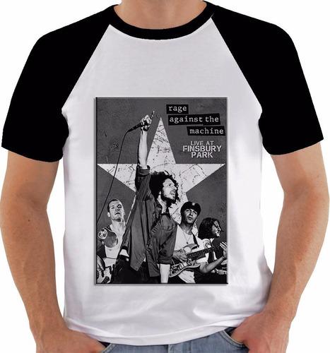 camiseta rock band poster original rage against the machine