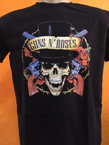 camiseta rock banda guns n roses slash cartola axl top guns