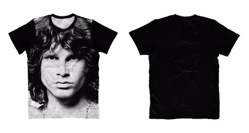 camiseta rock - jim morrison face - the doors * frete grátis