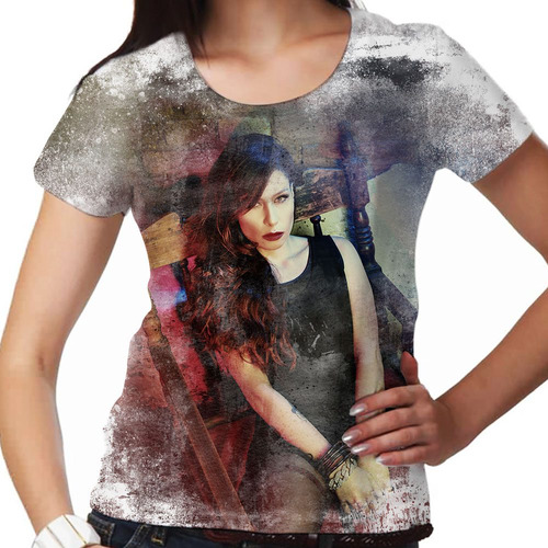 camiseta rock nacional pitty paint feminina