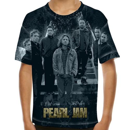 camiseta rock pearl jam infantil